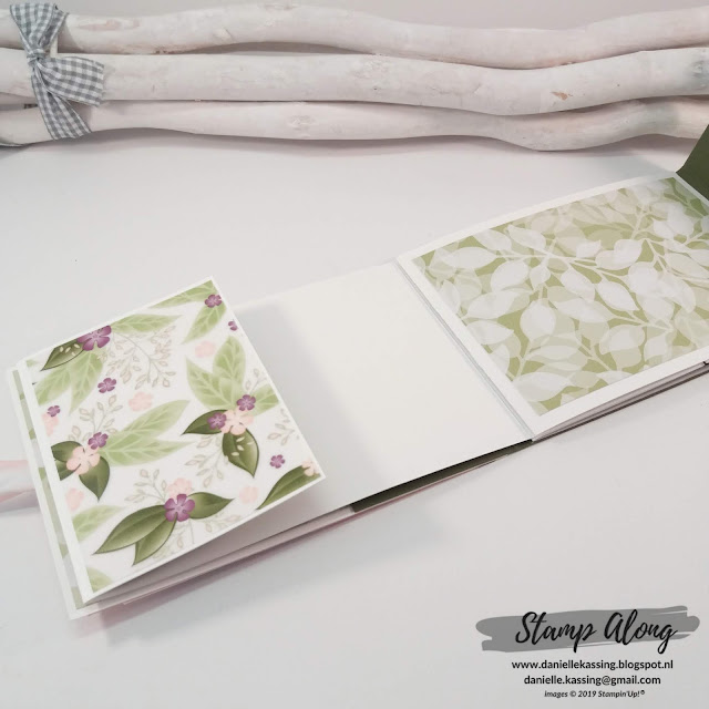 Stampin' Up ! Floral Romance Specialty dsp, mini-album teamdag Lovely Stampers