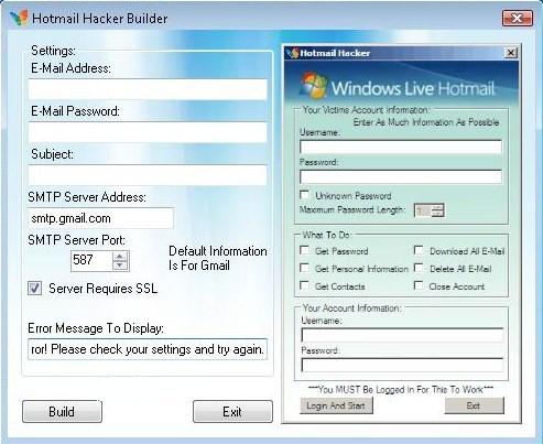 Hotmail Hacker Builder - HACK CHEAT GAME IOS