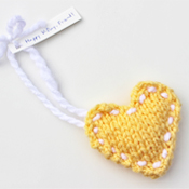 stuffed knit heart ornament