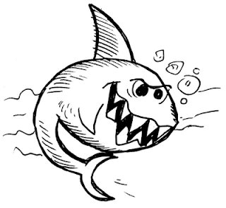 apprendre-a-dessiner-un-requin-1 Comment dessiner un requin