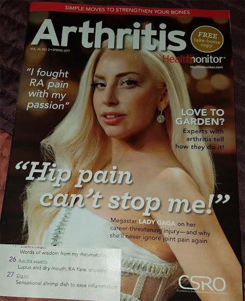 copertina dell'anno per lady gaga su arthritis magazine