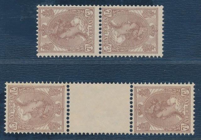 1924 Queen Wilhelmina tête-bêche