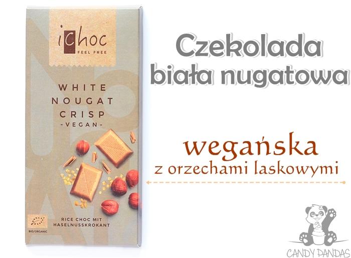 Wegańska czekolada biała, nugatowa na napoju ryżowym - Ichoc