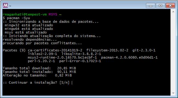 Como ter um shell do Linux no Windows XP/7 ou 8! E com gerenciador de pacotes do Arch-Linux!