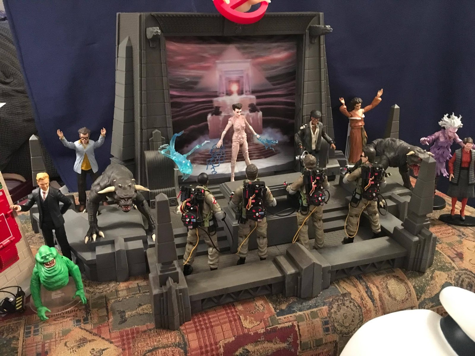 The Terrible Toyman Ghostbusters Rooftop Temple Diorama