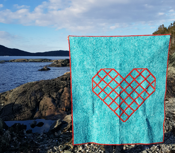 Cross Stitch Heart quilt | DevotedQuilter.blogspot.com