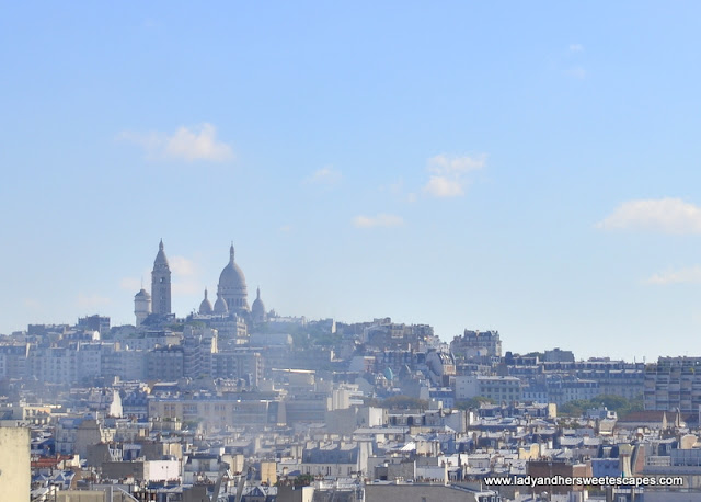 Sacre Coeur from our budget accommodation in Paris