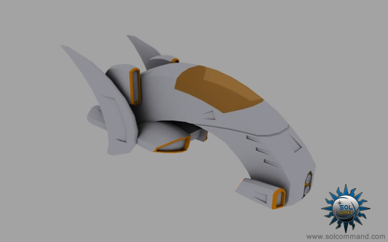 Numa fighter 3d model design industry light interceptor kyu nakamura designer civilian space ship scifi futuristic stylized solcommand