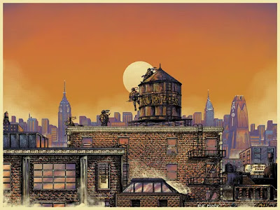 TMNT Regular Edition Screen Print by Bailey Race x Bottleneck Gallery