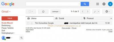 menu utama email gmail