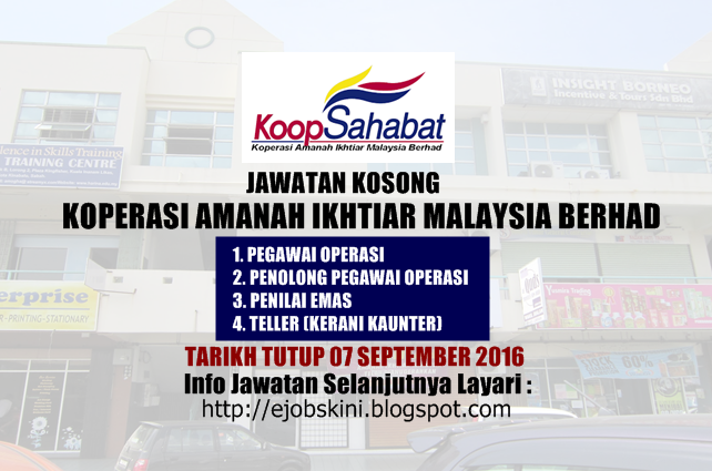 Jawatan kosong koperasi amanah ikhtiar malaysia berhad 2016