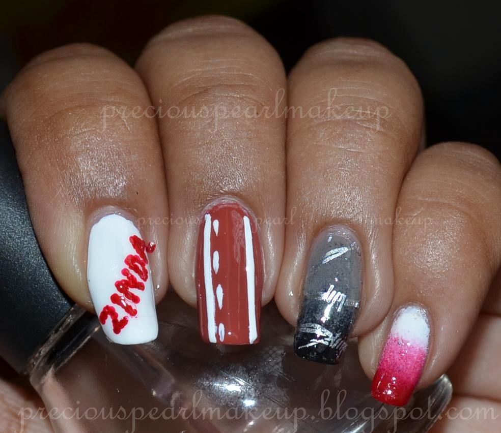 Preciouspearlmakeup Bhaag Milkha Bhaag Inspired Nails