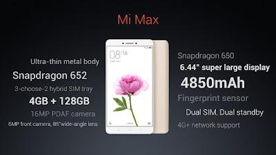 Daftar Harga Hp Terbaru Xiomi MI Max Terbaru 2016