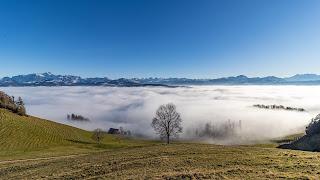 Alpstein von Köbelisberg aus gesehen
