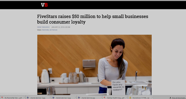 Screenshot: VentureBeat Story on FiveStars Capitalization