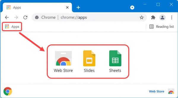 Chrome Uygulamalarını Görüntüle