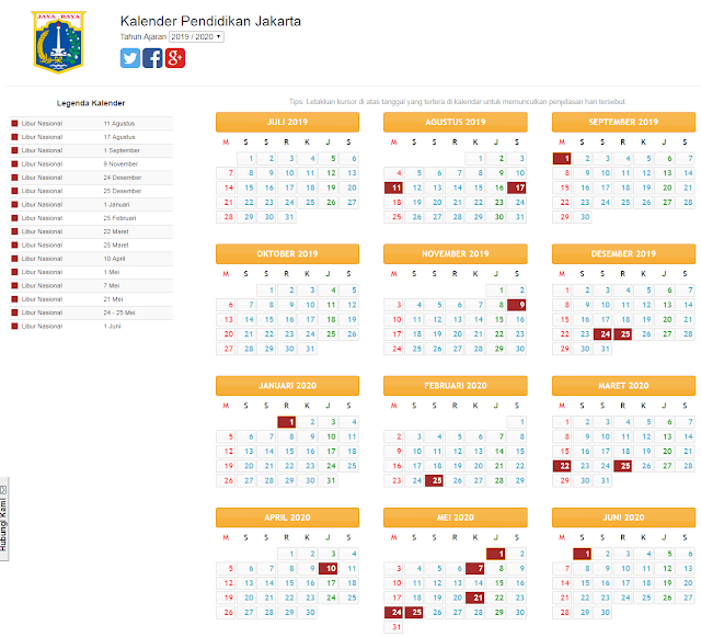 Kalender pendidikan provisi jakarta 2019/2020