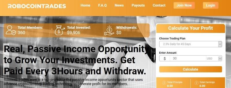 Мошеннический сайт robocointrades.com – Отзывы, развод. Компания Robocointrades мошенники