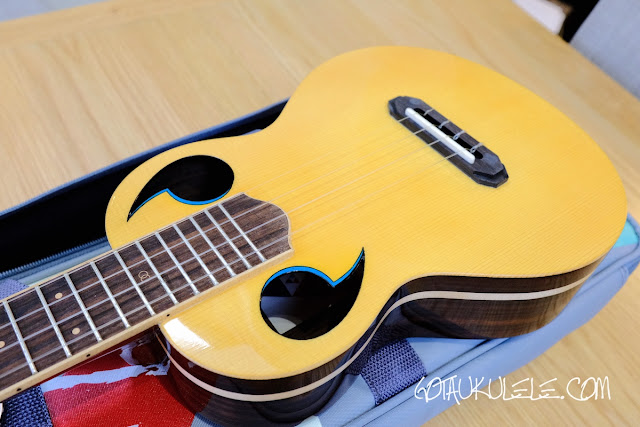The Rebel Quark Tenor Ukulele  body