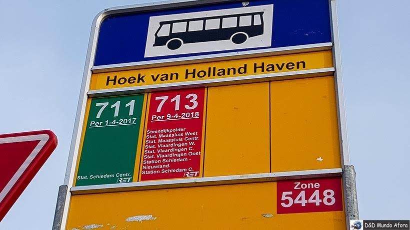 Ponto de ônibus em Hook of Holland - De Londres a Amsterdam: como fazer o trajeto de navio