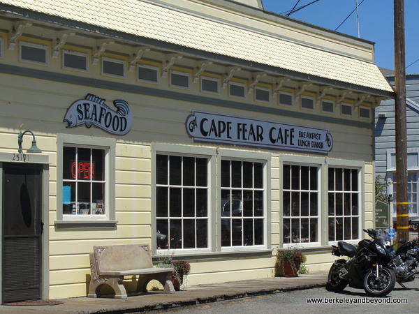 exterior of Cape Fear Cafe in Duncans Mills, California