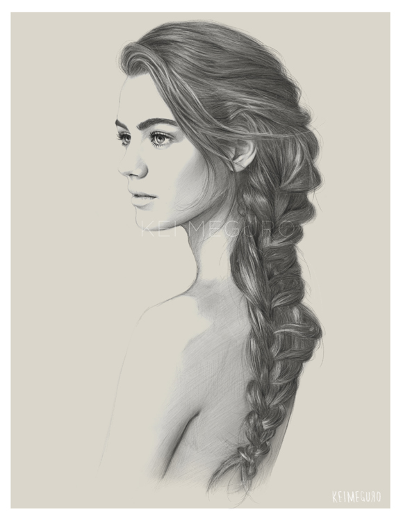 11-Mermaid-Kei-Meguro-Traditional-and-Digital-Art-Portraits-in-New-York-www-designstack-co