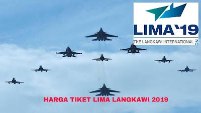 Harga Tiket Pameran LIMA 2019 Langkawi