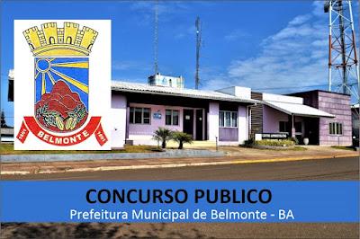 inscrições Concurso Prefeitura de Belmonte -Edital 2019