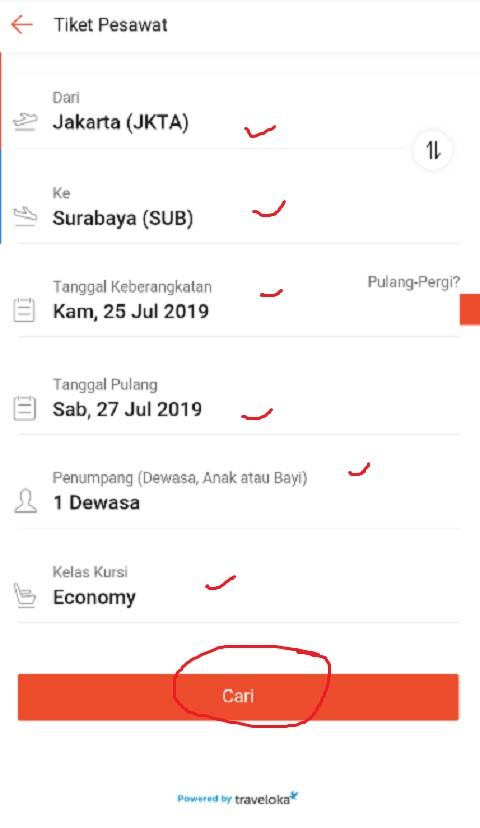 Tentukan Jadwal Penerbangan di Shopee