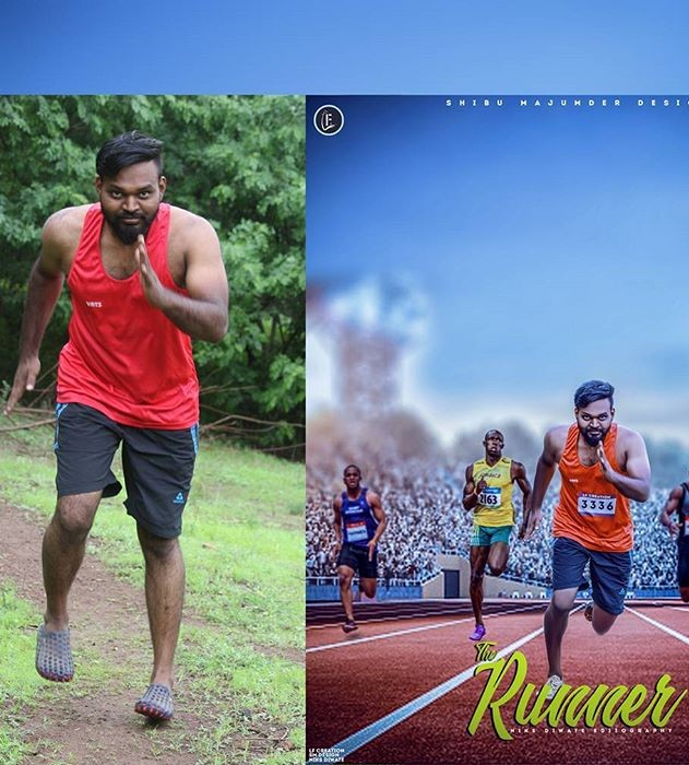 Download free psd file of runner poster|Photoshop