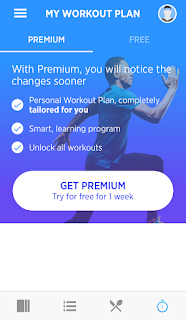 Workout plan page