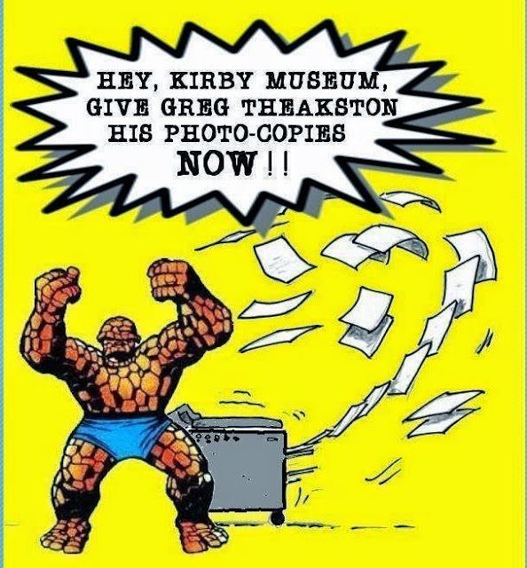 greg theakston jack kirby museum and research center photocopies xerox dispute archive