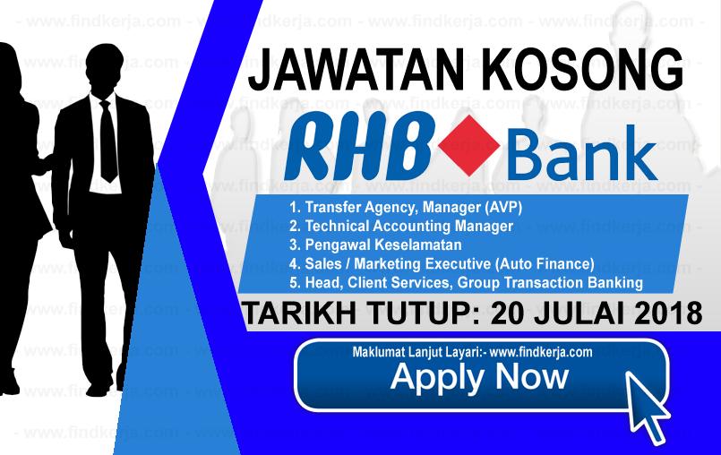 Jawatan Kerja Kosong RHB Banking Group logo www.ohjob.info www.findkerja.com julai 2018
