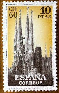 Spain 1960 - Philatelic Congress Barcelona Gaudi