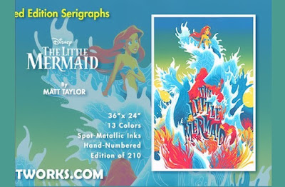 The Little Mermaid Screen Print by Matt Taylor x Cyclops Print Works x Disney