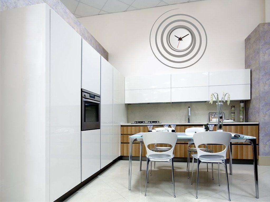 Construindo minha casa clean 13 ideias de rel gios na decora o da cozinha - Relojes de salon modernos ...