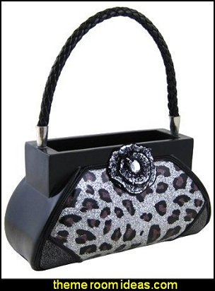 Leopard Print Handbag Makeup Brush Holder