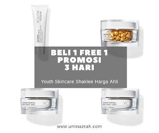 Beli 1 free 1 Promosi 3 Hari Youth Skincare Shaklee Harga Ahli