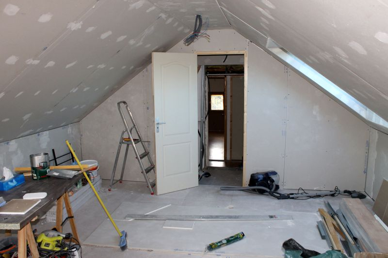 am nagement des combles cloison escalier. Black Bedroom Furniture Sets. Home Design Ideas