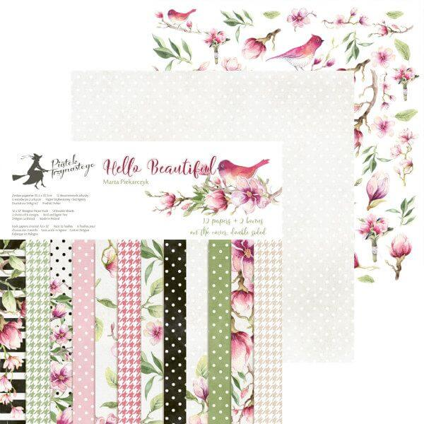 springtime-themed set of scrapbooking papers