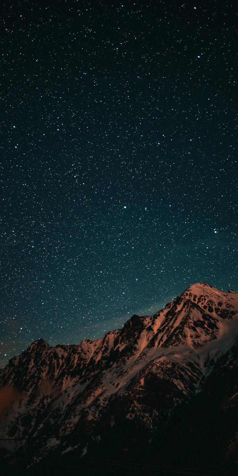 Mountain night sky