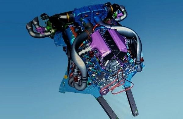 Plano Motor V8 LT7 del Chevrolet Corvette C8
