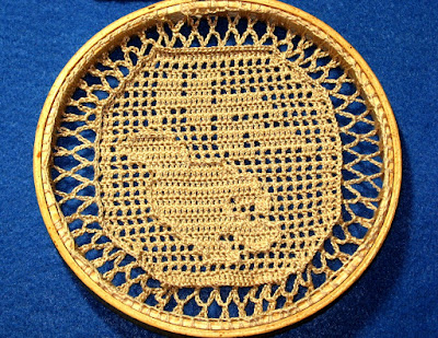 Crocheted Bird of Peace in Wood Hoop - Handmade By Ruth Sandra Sperling - Email for Custom Order