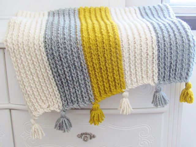 Knit Look Crochet Afghan