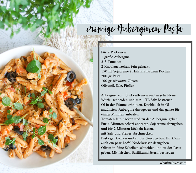 cremige Auberginen-Tomaten-Pasta