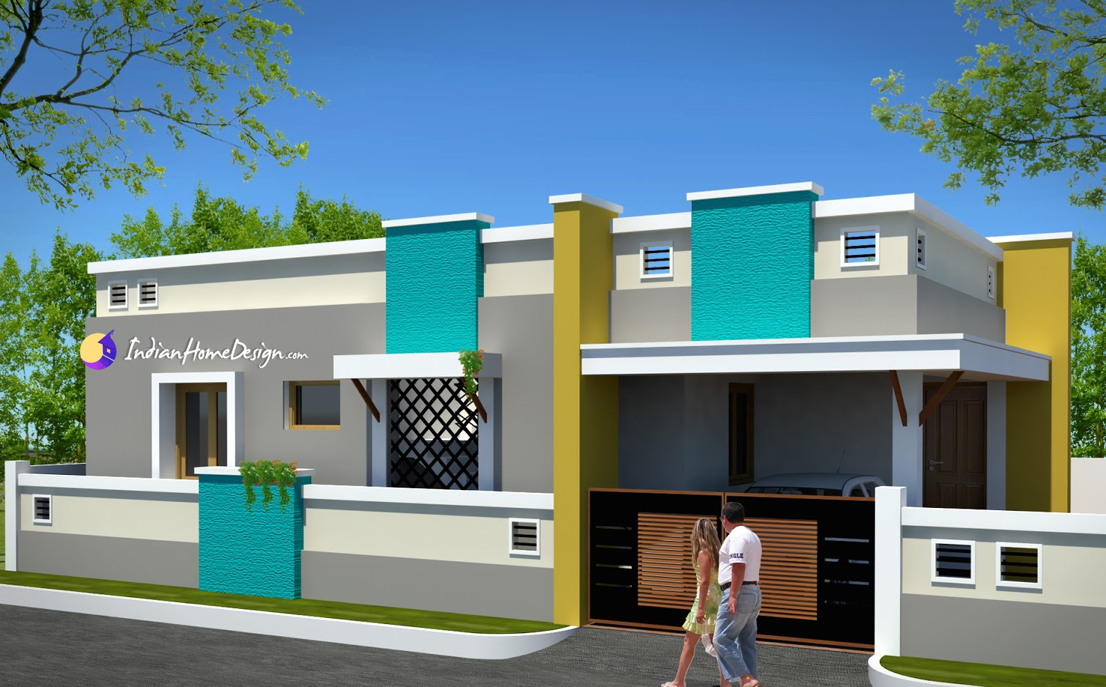 Contemporary Low Cost 800 Sqft 2 Bh..