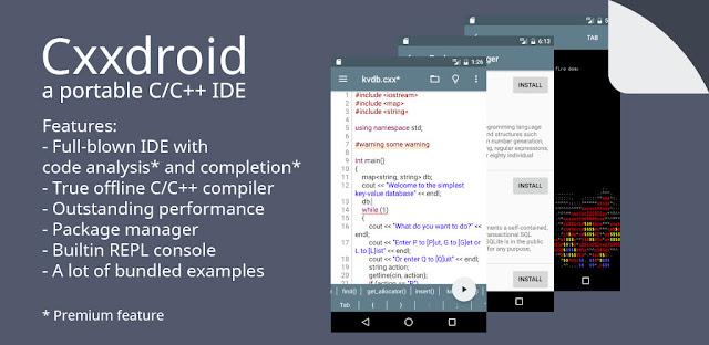تحميل برنامج C مجانا للاندرويد Cxxdroid برنامج لكتابة أكواد C للاندرويد C++ compiler
