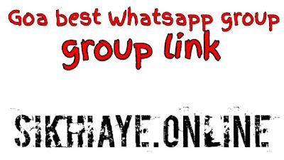 Goa WhatsApp group link