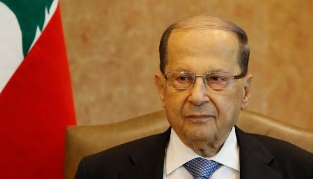 Lebanese President Michel Aoun is seen at the presidential palace in Baabda, Lebanon, November 7, 2017. REUTERS/Mohamed Azakir