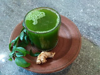 Liquid Sunshine (Green juice) - Curry Leaves & Ginger